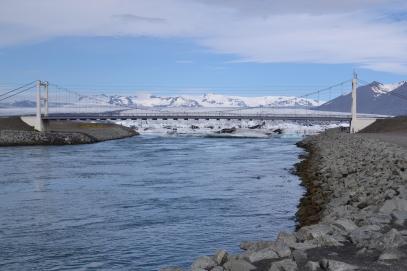 nejkratší řeka islandu z jezera Jökulsárlón