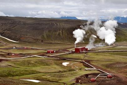 geotermální elektrárna Krafla
