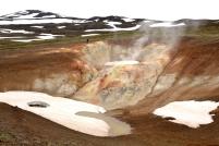 vulkanická oblast nedaleko jezera Mývatn